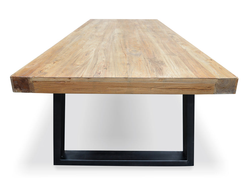 CDT050 1.98m Reclaimed Elm Wood Dining Table