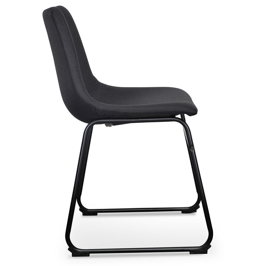 DC2009-SE - Dining Chair in Black (Set of 2)