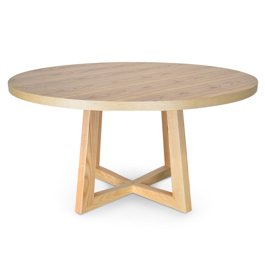 CDT2747 - 1.5M Round Dining Table - Full Black