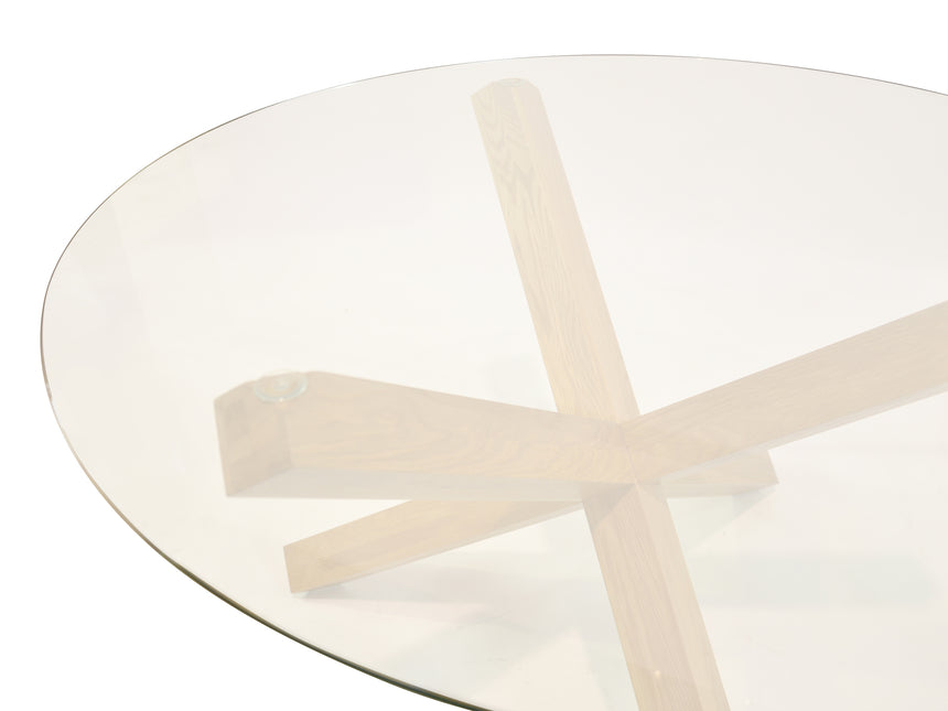 CDT1029-VN 1.2m Round Dining Table - Glass Top