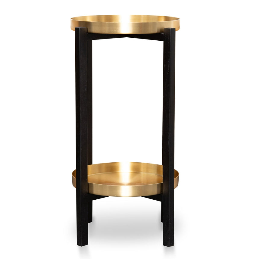 CST2119-OW Tray Side Table - Black Frame