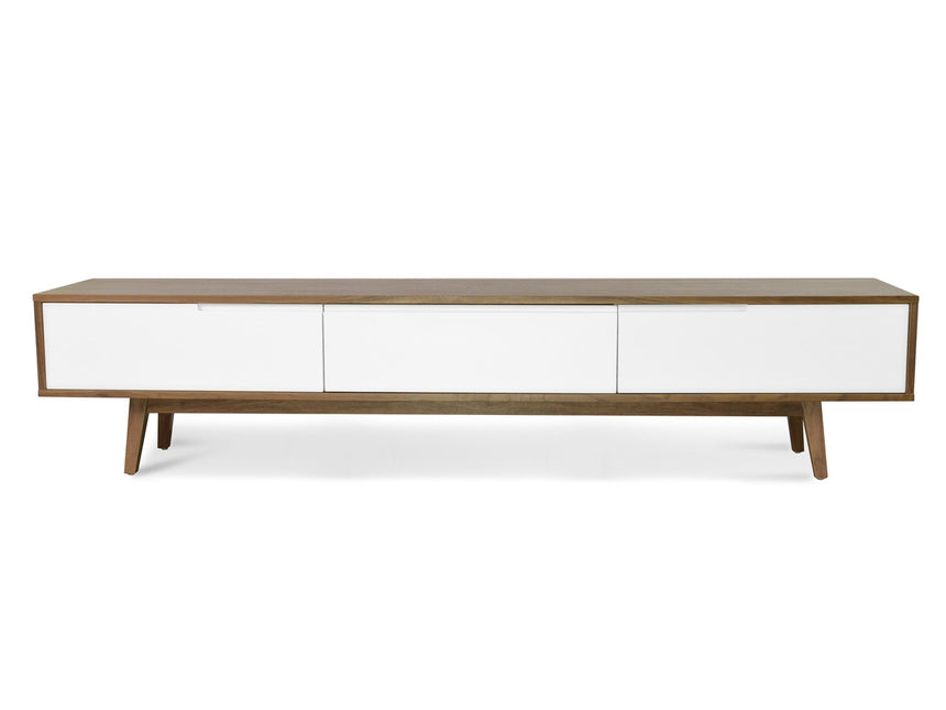 CTV862-DW 2.1m Scandinavian Lowline TV Entertainment Unit - Walnut