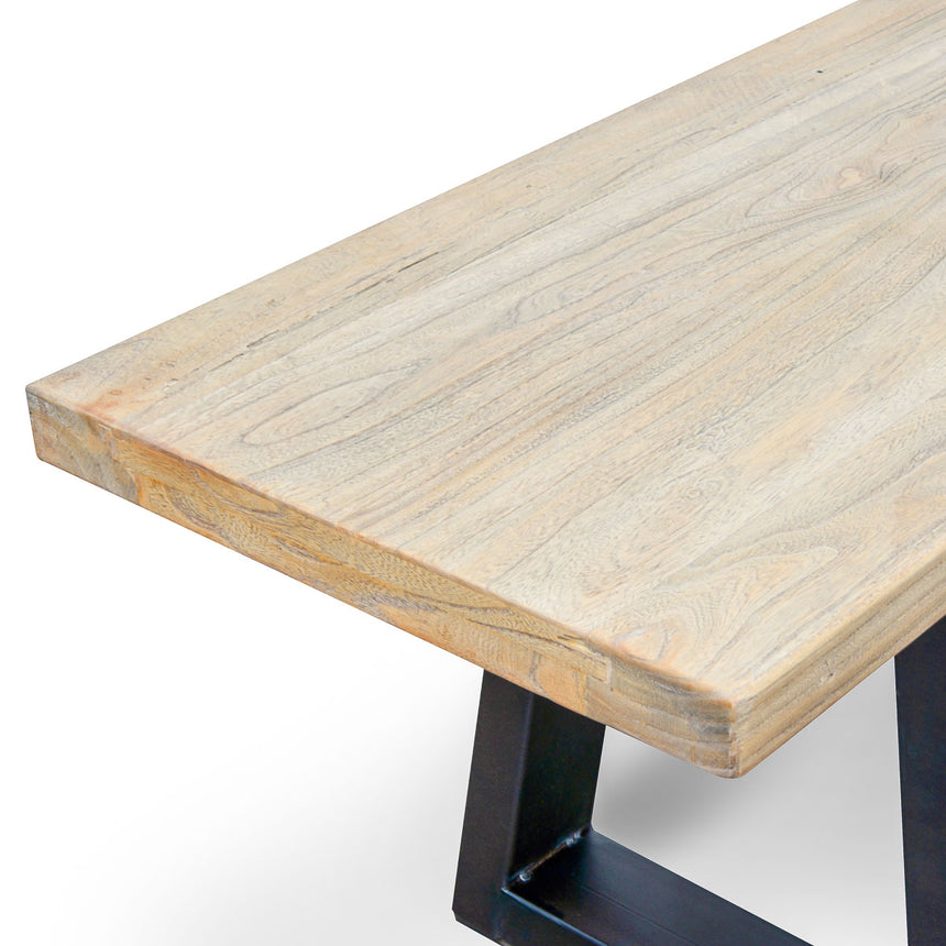 CDT055 2m Reclaimed Elm Wood Bench - Natural