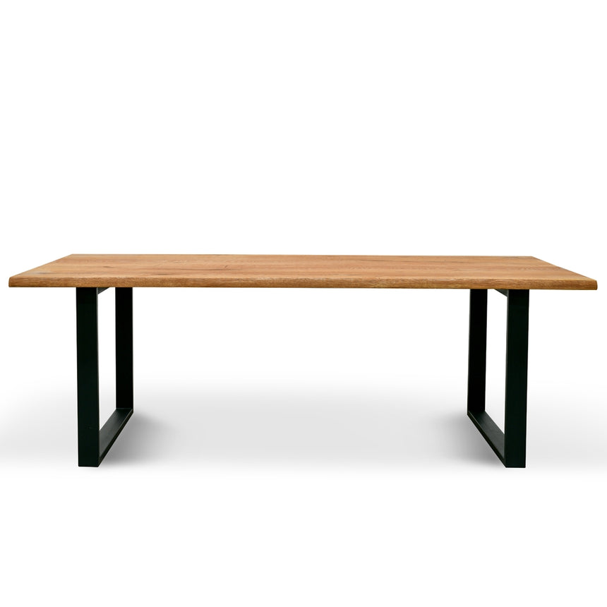CDT2300-SI  2.2m Dining Table - Oak timber panels - Metal Legs