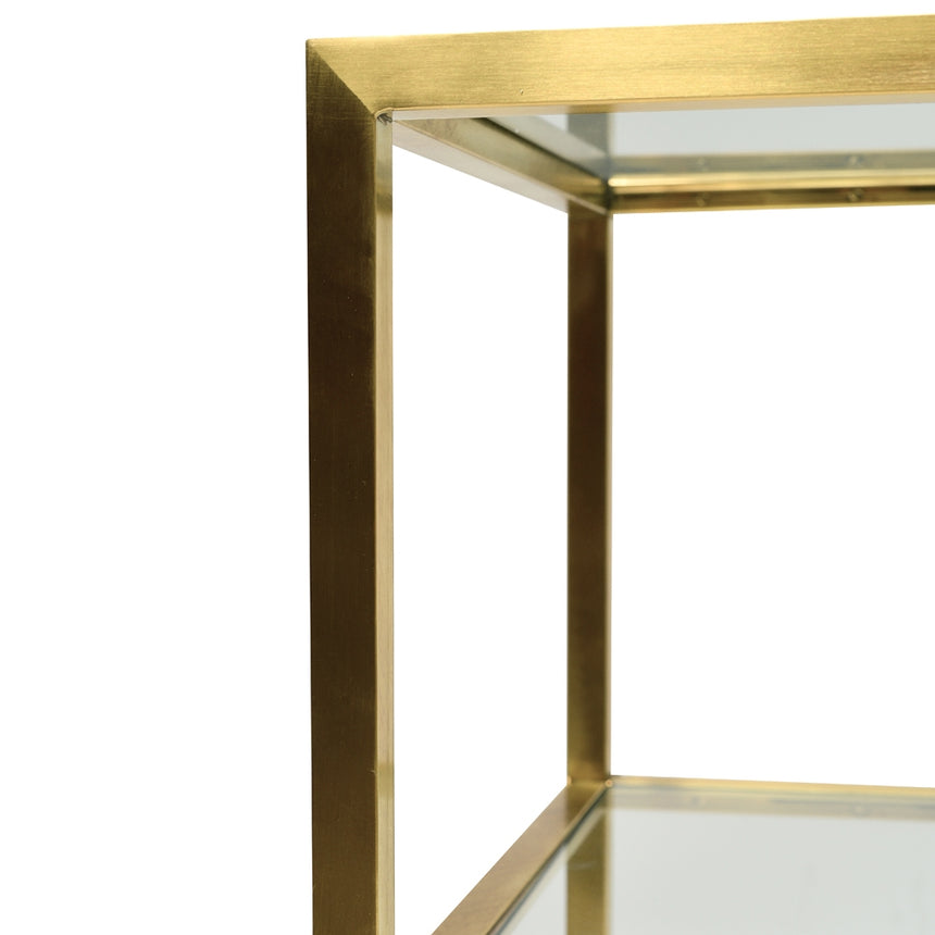 CDT2363-KS 1.2m Glass Console Table - Gold Base