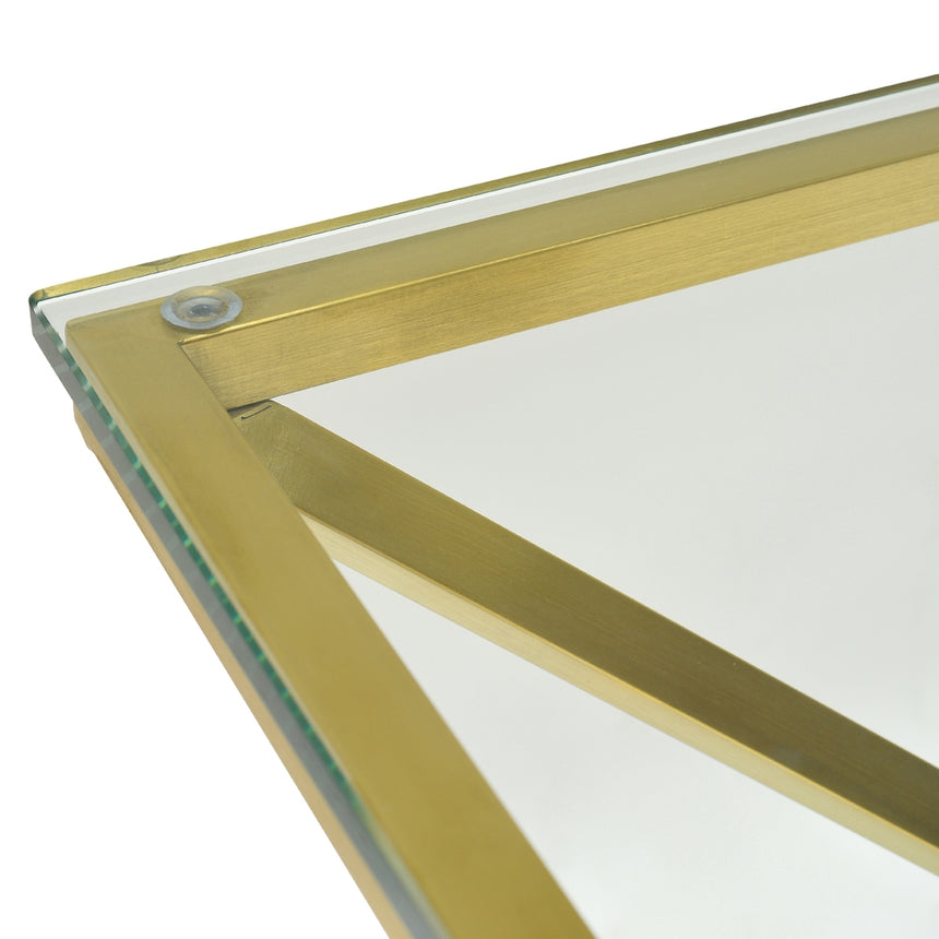 CDT2364-KS 1.2m Glass Console Table - Gold Base