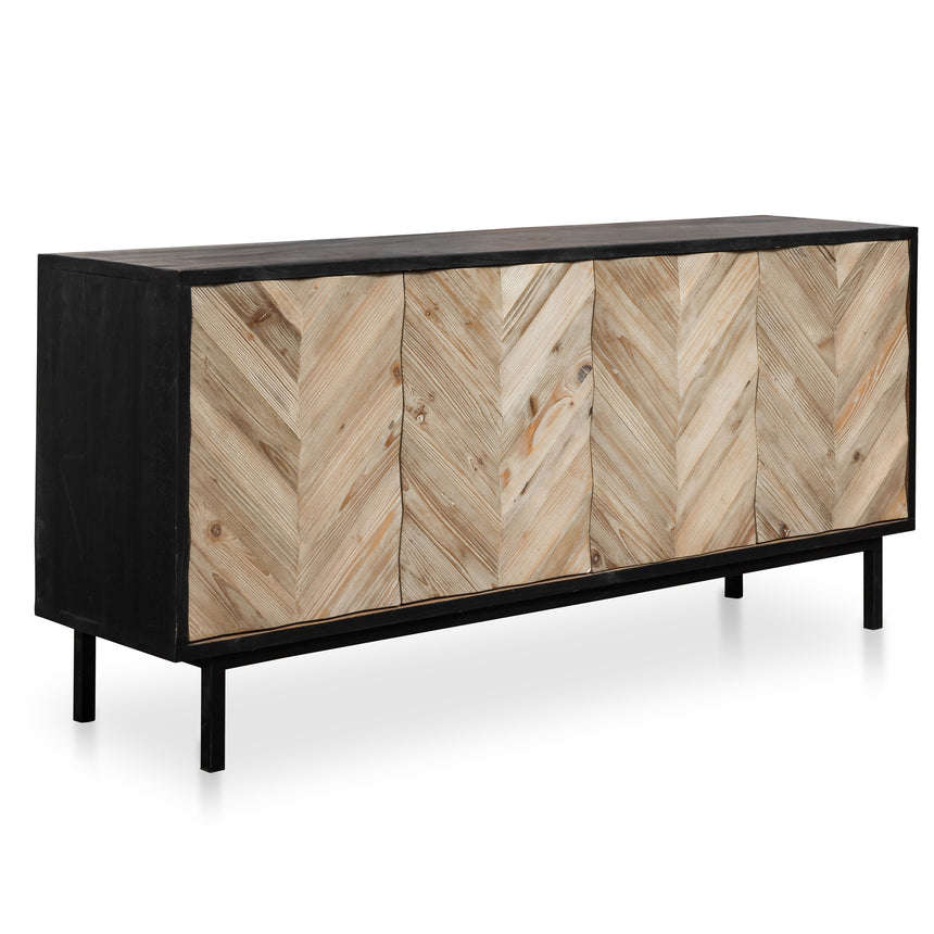 CDT2400-NI Reclaimed Sideboard and Buffet In Black - Black Base