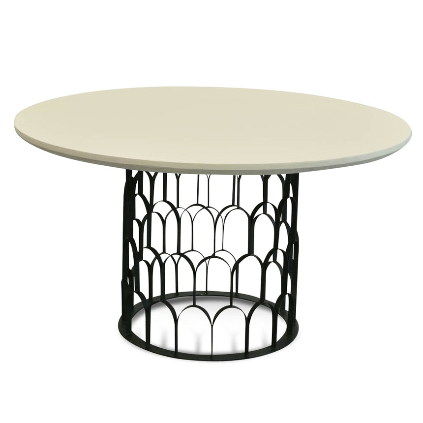 CDT2443-CO 1.4m Round Dining Table - White - Black