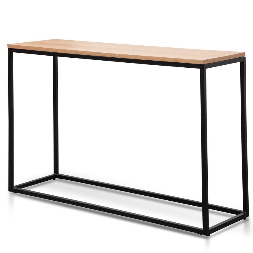 CDT2327-NI 1.2m Reclaimed Pine Console Table - Black Base