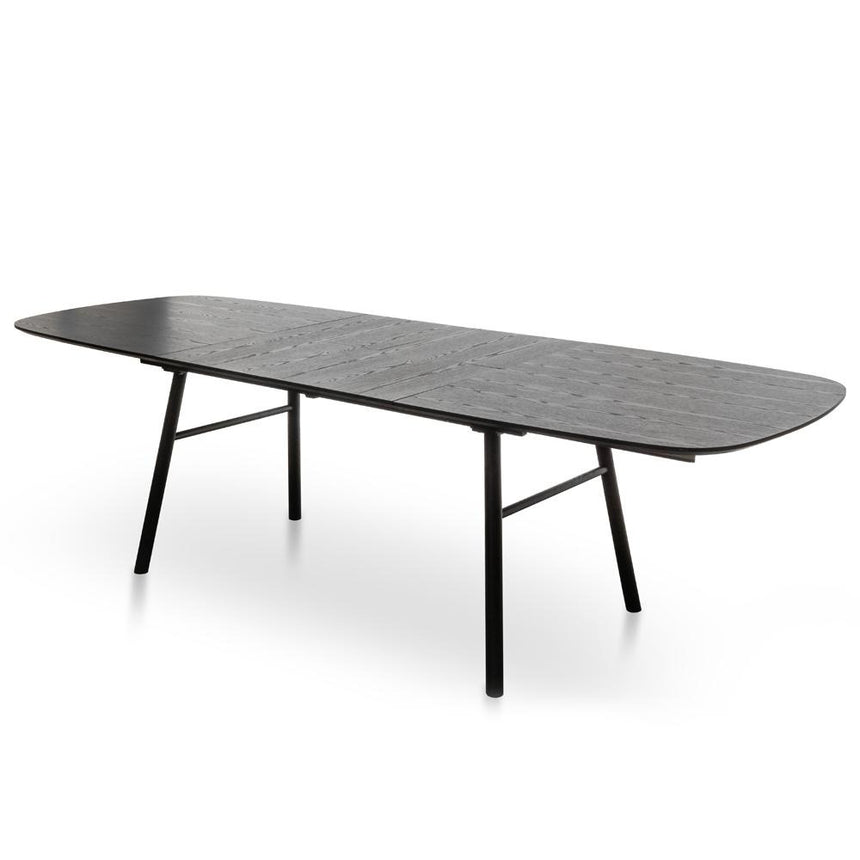 CDT2555-DW 1.8-2.7m Dining Table - Black Ash