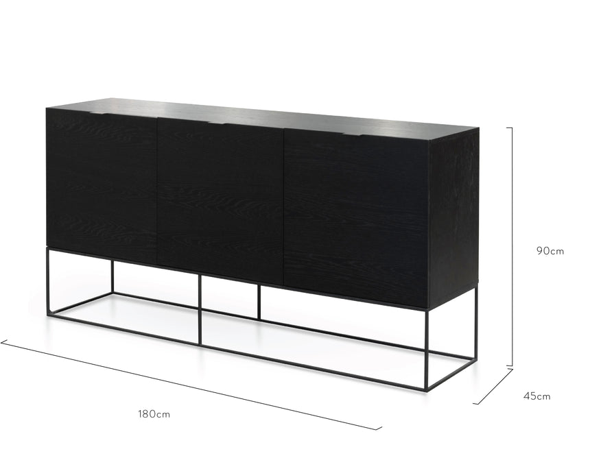 CDT2656-CN Buffet Unit – Black Oak Veneer