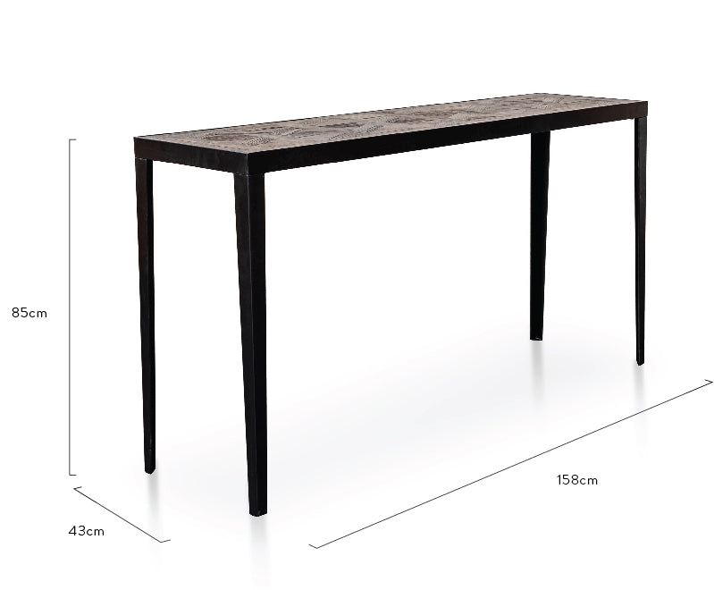 CDT2792-NI Console Table - Dark Natural