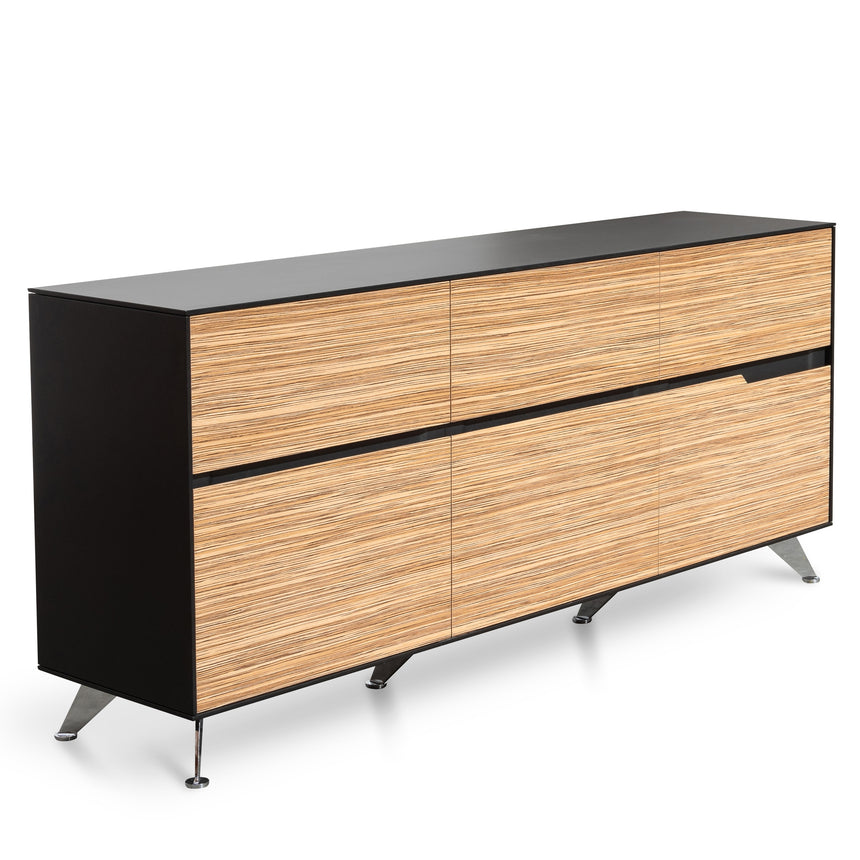 CDT280 6 Drawer Buffet Unit - Zebra Wood