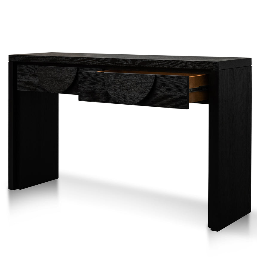 CDT2902-VA 1.4m Console Table - Textured Espresso Black