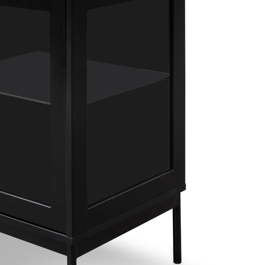 CDT2913-DW - 160cm Sideboard Unit - Black with Glass Door and Self