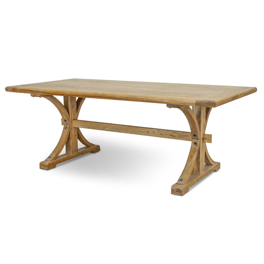 CDT520  Reclaimed Elm Wood Dining Table 2M - Natural