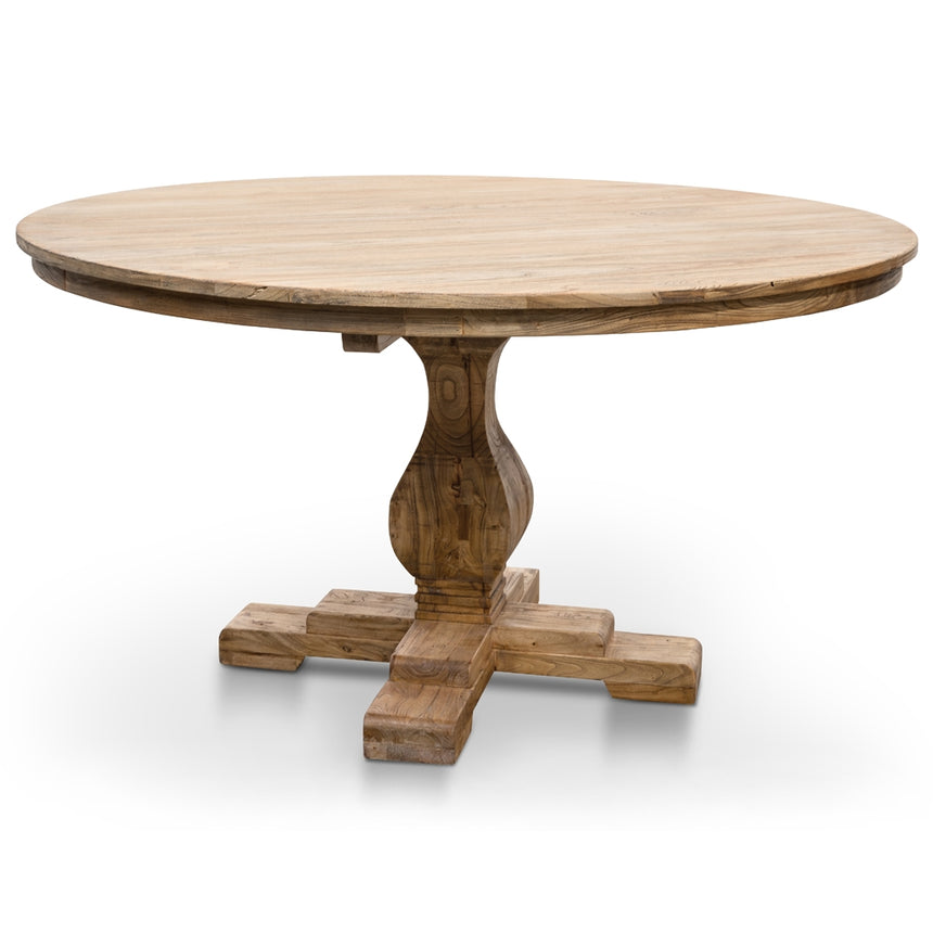 CDT2759 Round Dining Table 140cm - Rustic Natural