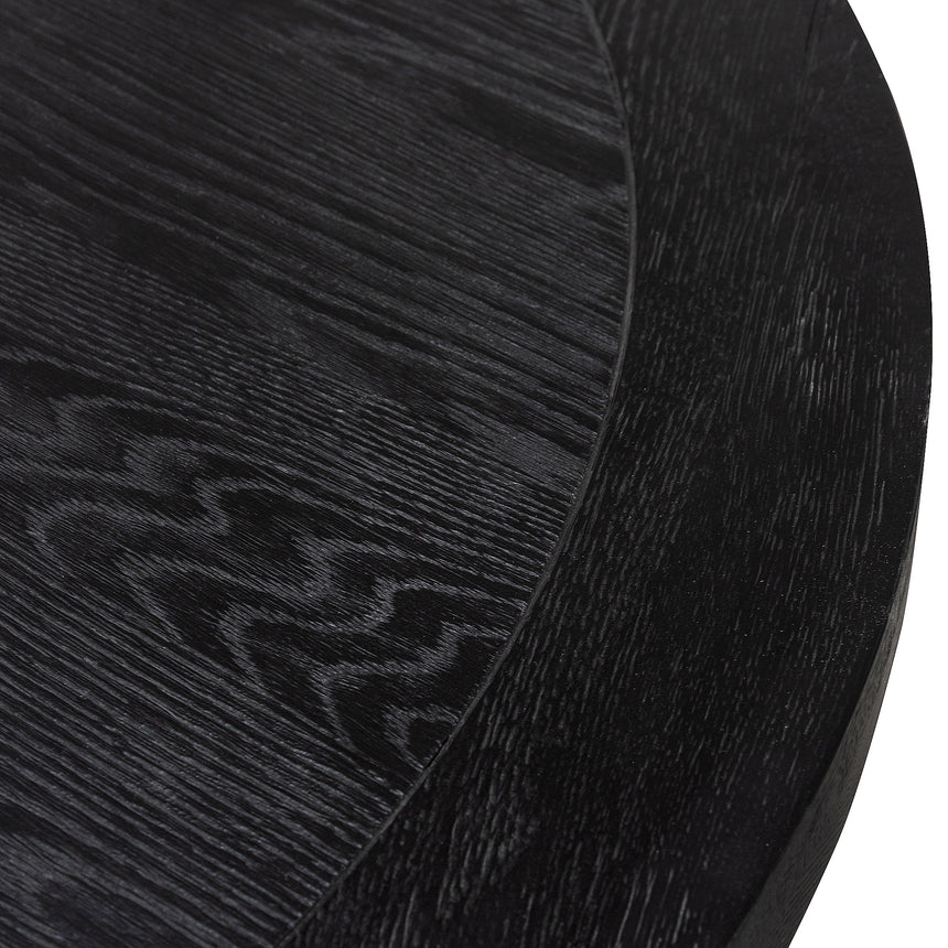 CDT6076-CH 1.5m Round Wooden Dining Table - Full Black