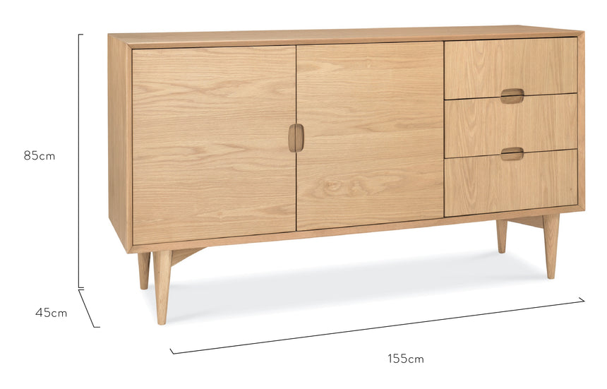CDT770-VN Scandinavian Buffet Cabinet - Natural