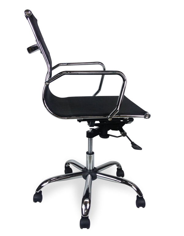 COC210 Designer Mesh Boardroom Office Chair - Low Back - Black
