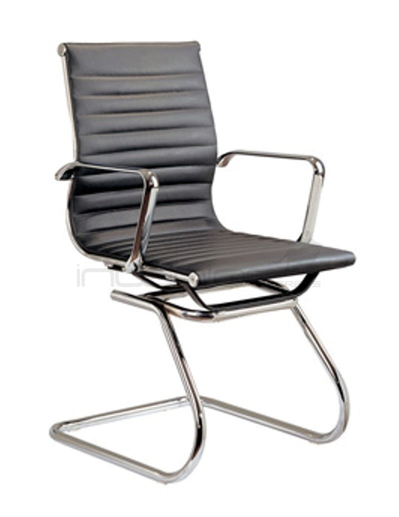 COC250 PU Leather Office Chair - Black