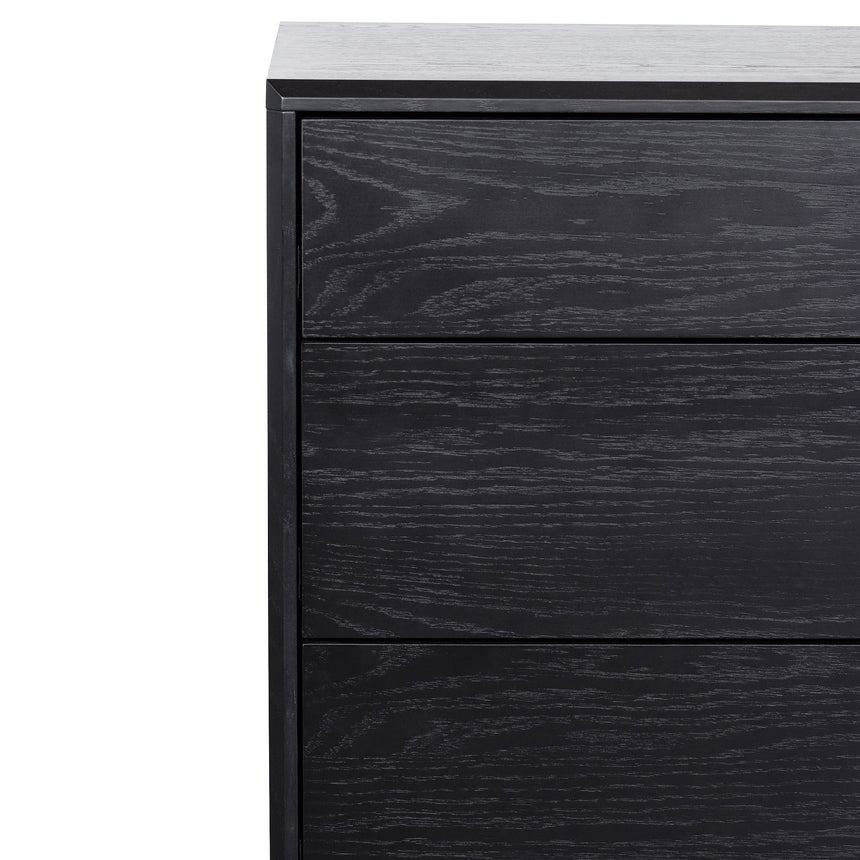 CDT6199-CN - 3 Drawers Dressing Table - Black Oak