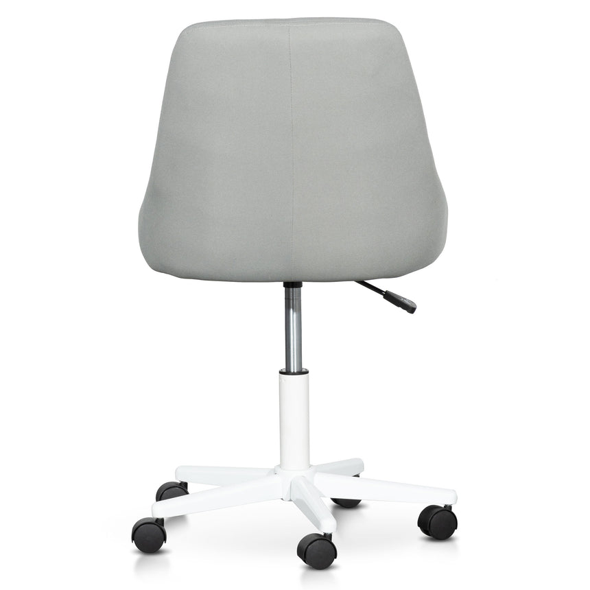 COC6238-UN Grey Fabric Office Chair - White Base