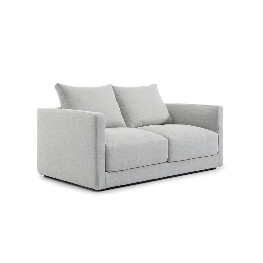 CLC2837-SKS 2 Fabric Seater Sofa - Light Texture Grey