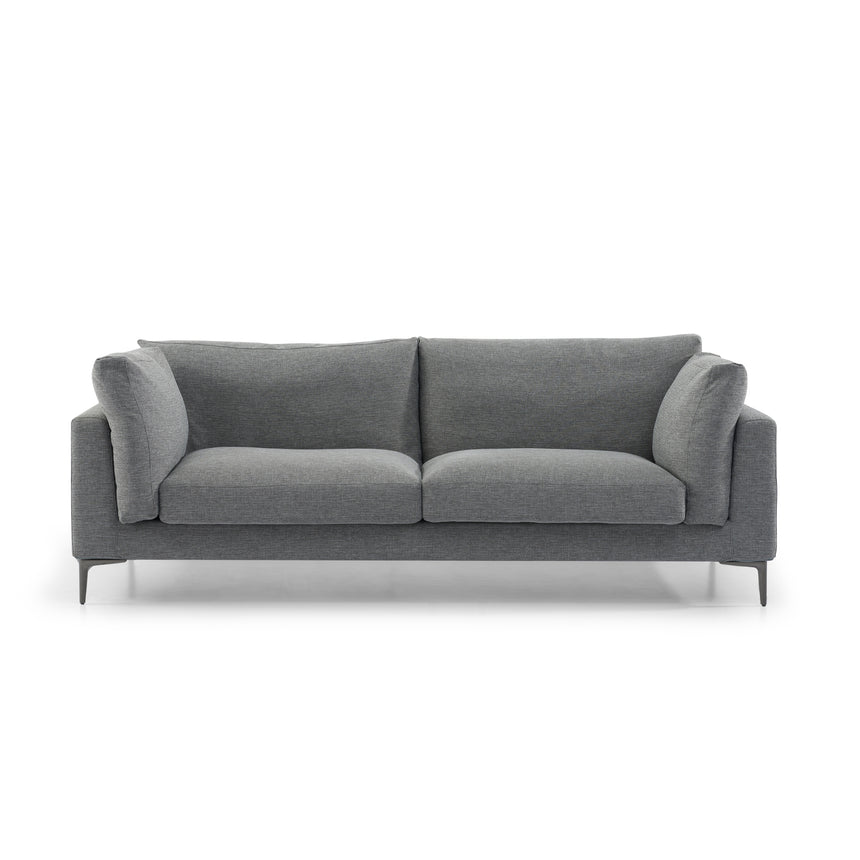 CLC2838-SKS 3 Seater Fabric Sofa - Graphite Grey with Black Legs