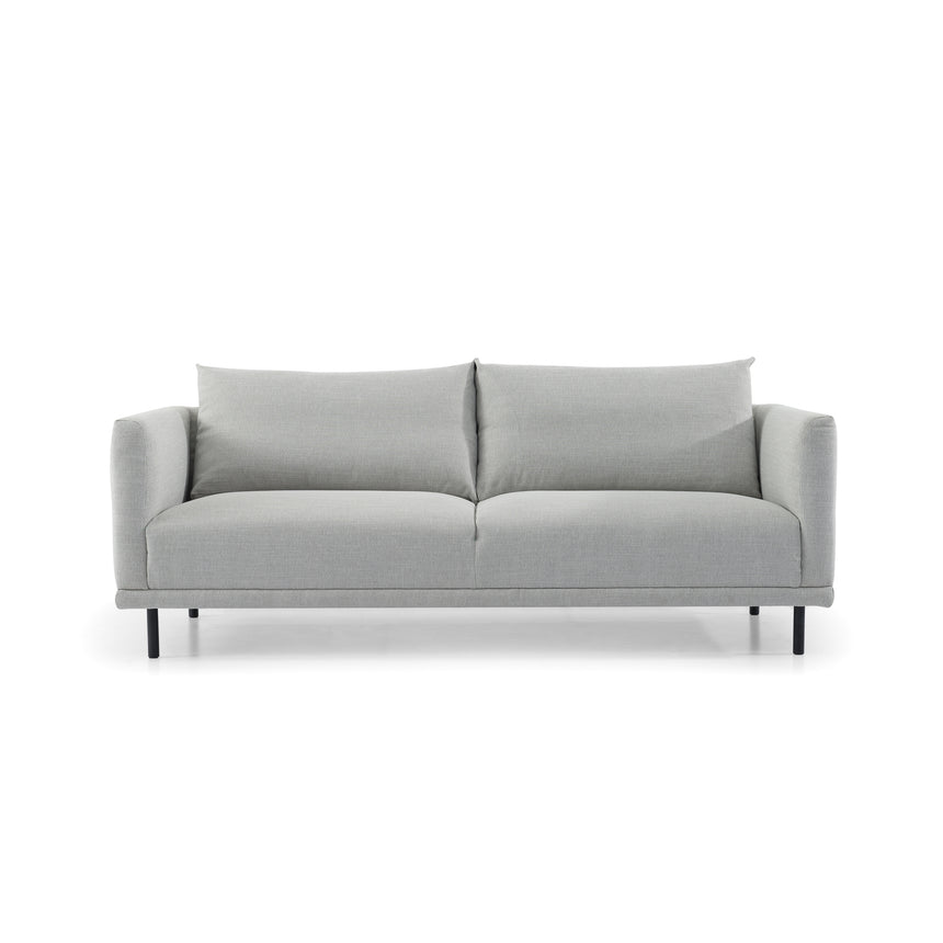 CLC2839-SKS 3 Fabric Seater Sofa - Light Texture Grey with Black Legs