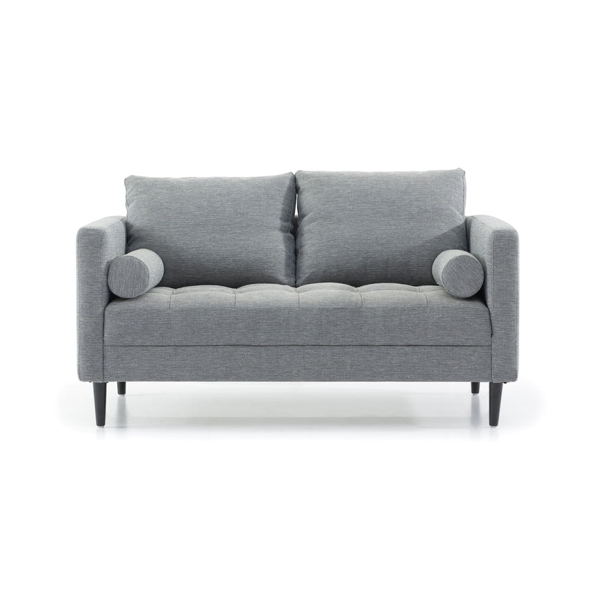 CLC2829-SKS 2 Seater Fabric Sofa - Navy Grey with Black Legs