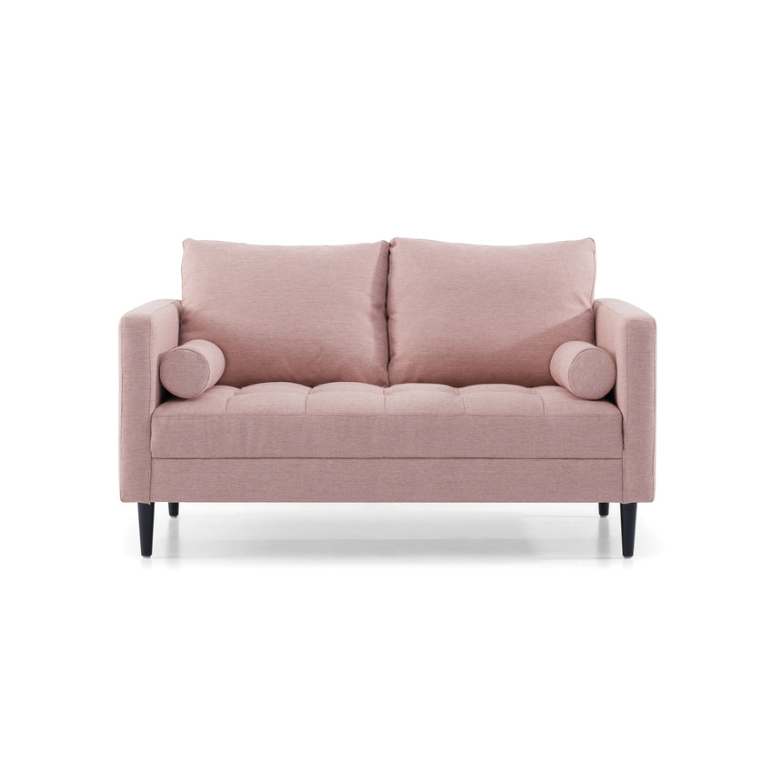 CLC2830-SKS 2 Seater - Texture Blush Fabric Sofa with Black Legs