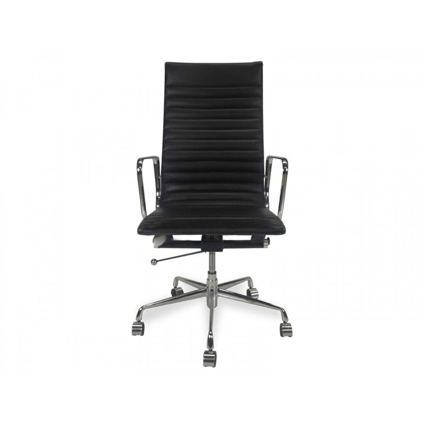 COC102  Leather Office Chair - Black
