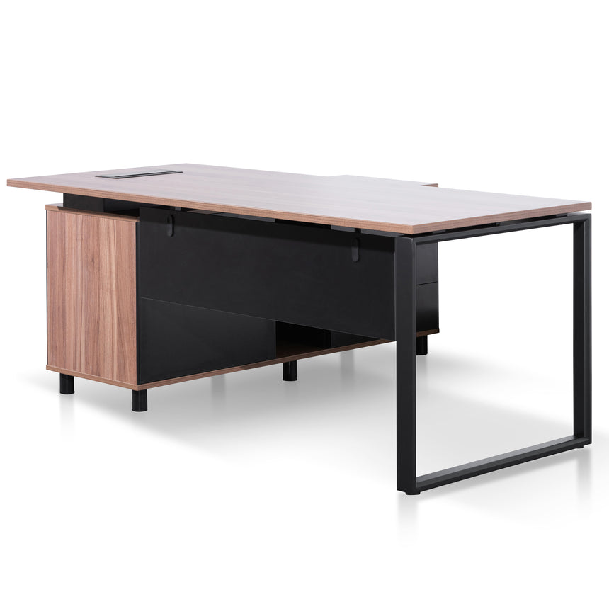 COT6166-SN 1.8m Executive Desk Right Return with Black Legs - Walnut