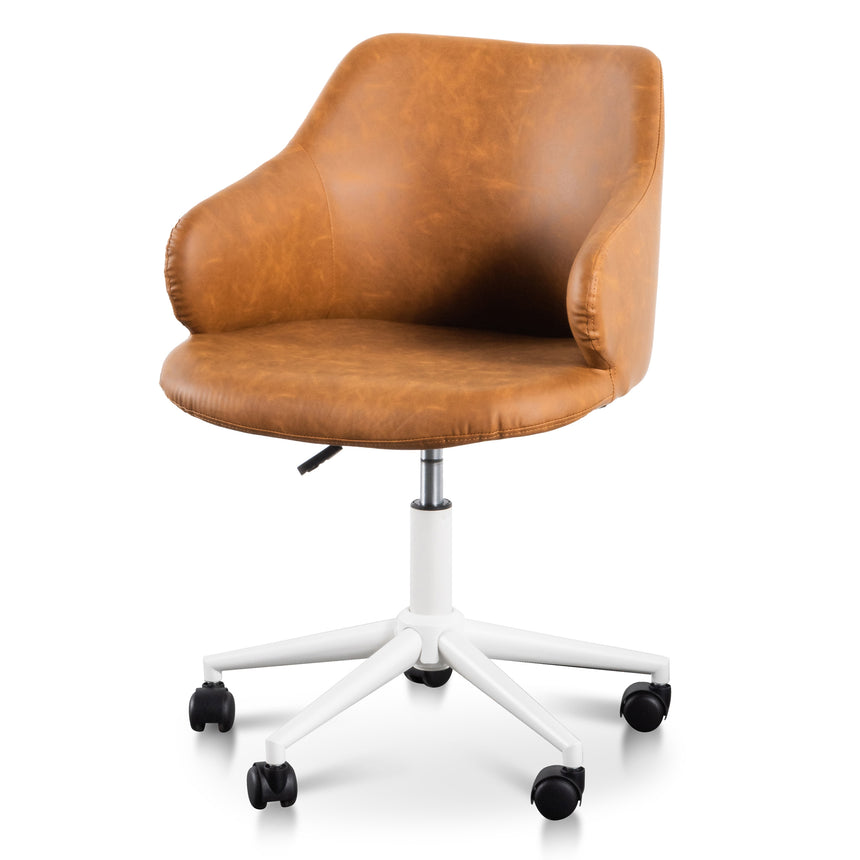 COC6195-LF Office Chair - Tan with White Base