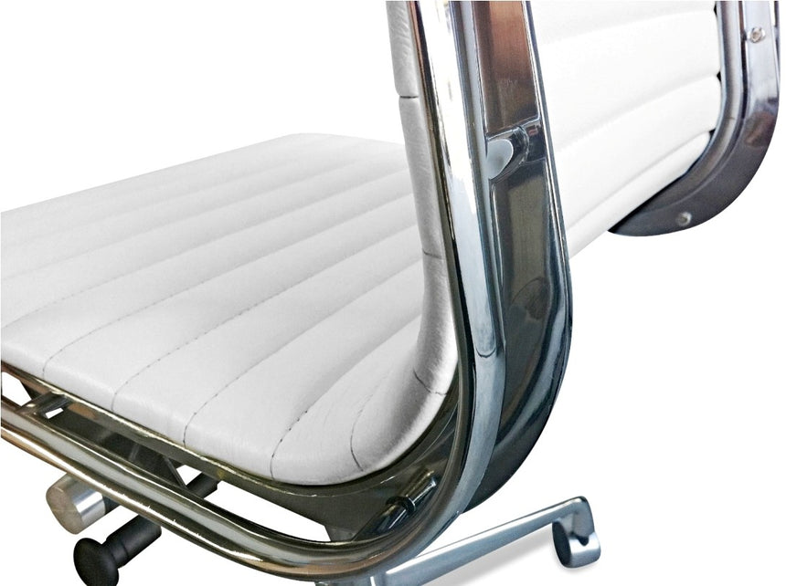 COC105 Leather Office Chair - White