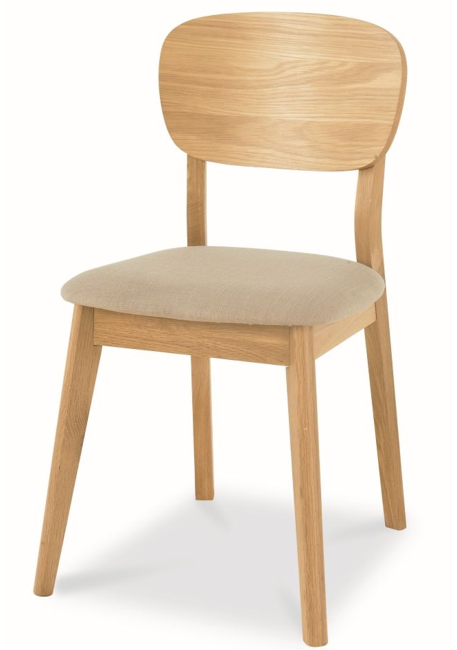 CDC785STO-VN Veneer Dining Chair - Fabric Seat