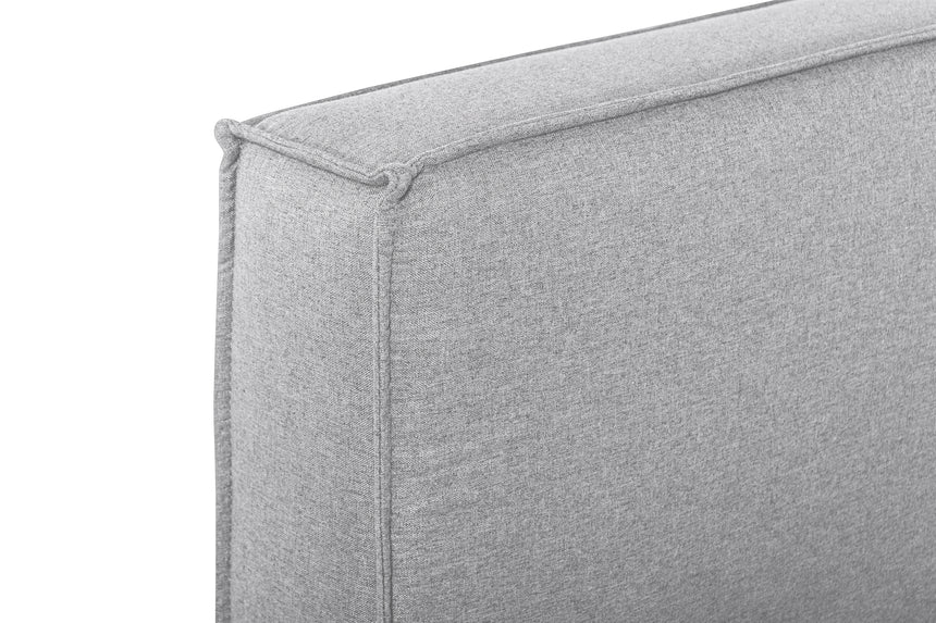 CBD2997-YO - Queen Bed Frame in Pearl Grey fabric