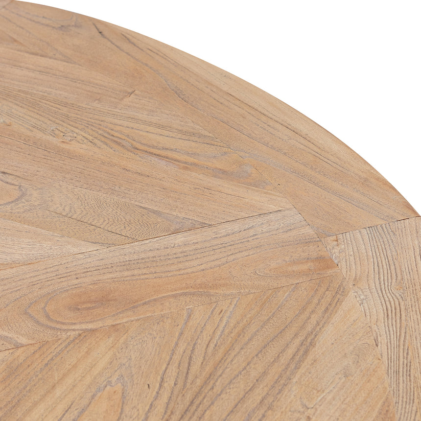 CDT6067 Natural Wooden Round Dining Table - Black Base