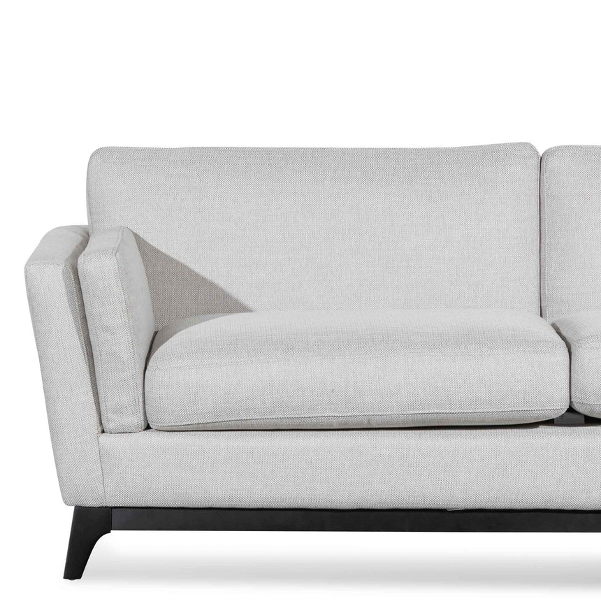 CLC6371-CA 3 Seater Fabric Sofa - Light Texture Grey