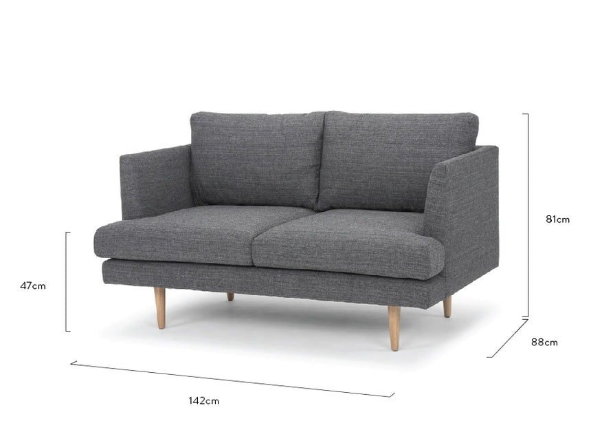 CLC2076 2 Seater Sofa - Metal Grey