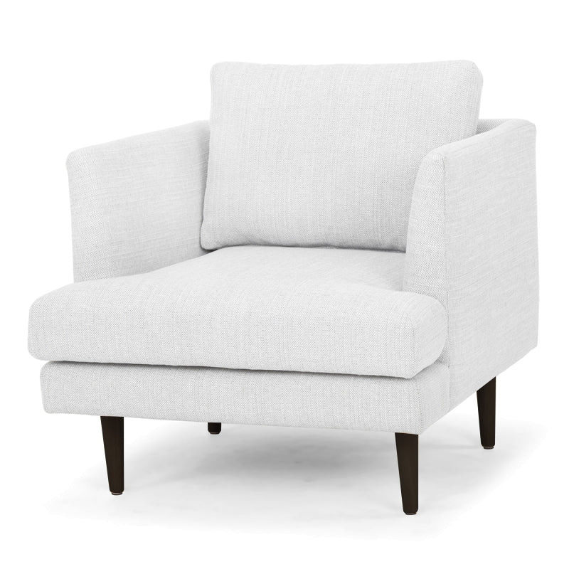 CLC2190 Armchair - Light Texture Grey - Black Legs