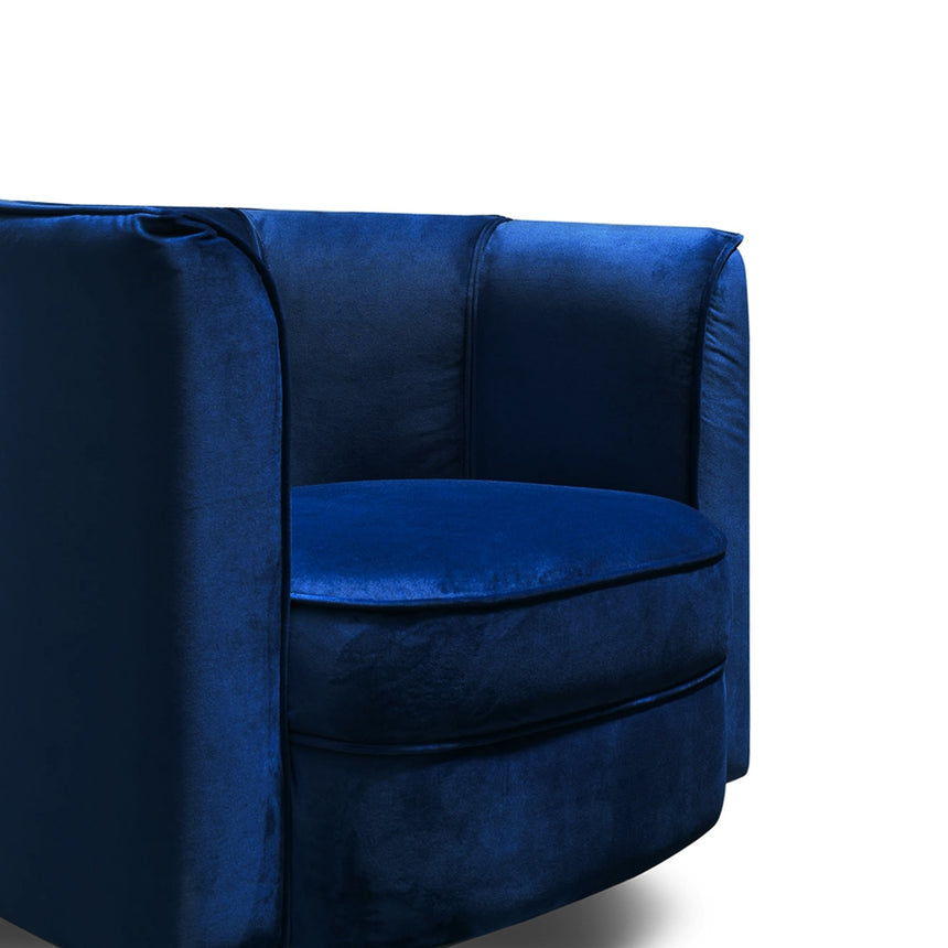 CLC2439-IG Armchair - Blue Velvet - Black Base