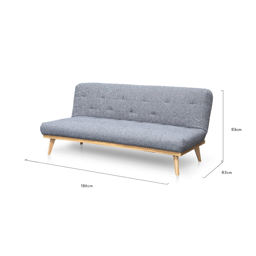 CLC2502-DCO 3 Seater Sofa Bed - Cloudy Grey