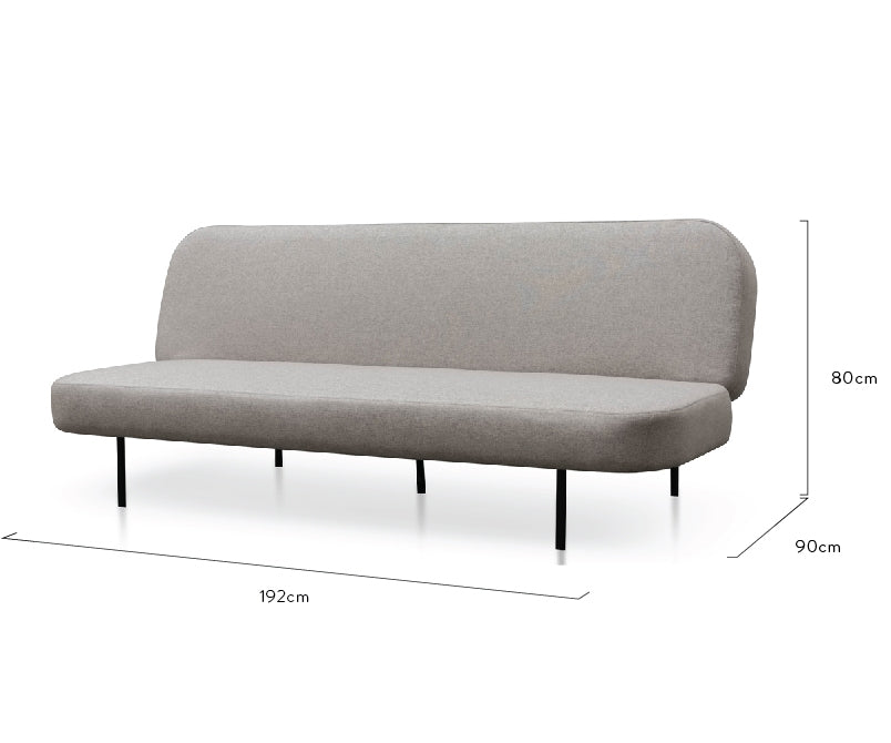 CLC2599-NIS 3 Seater Sofa Bed - Light Grey