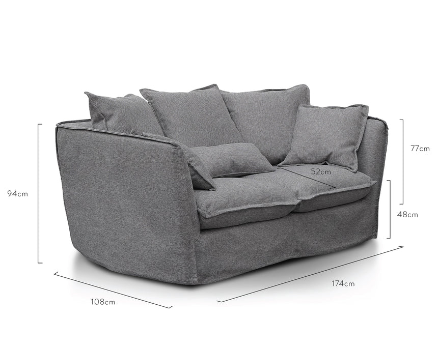 CLC2737-KSO 2 Seater Sofa - French Grey
