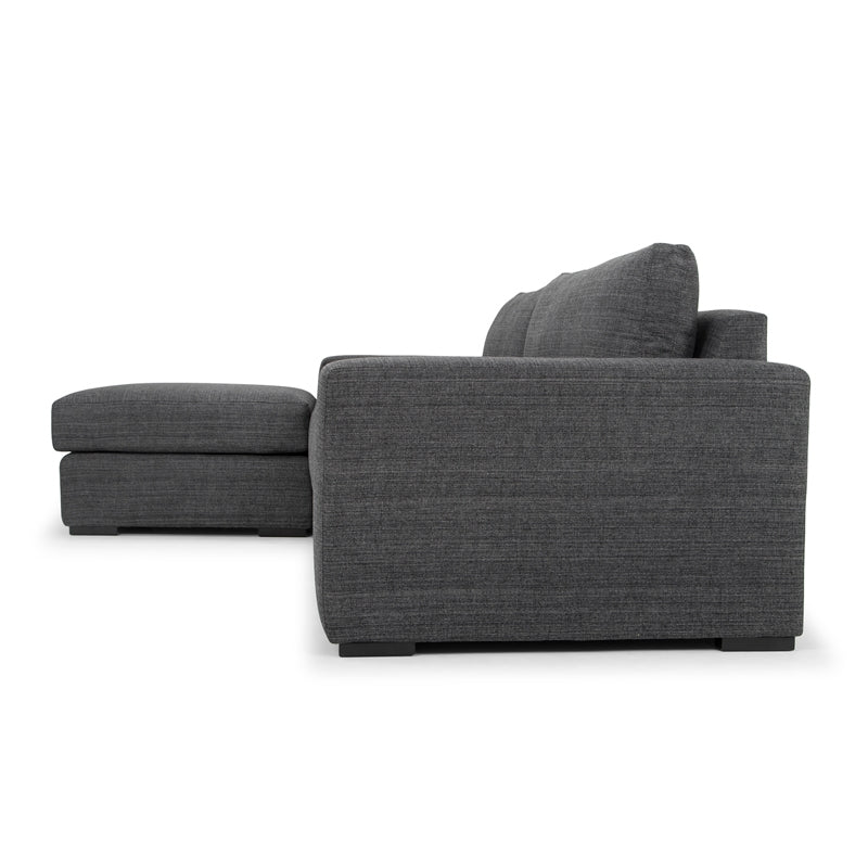 CLC801 3 Seater Sofa With Chaise - Metal Grey
