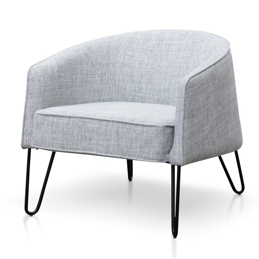 CLC6157-IG Fabric Armchair - Light Spec Grey with Black Legs