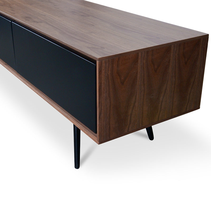 CTV884-DW 180cm TV Unit With Black Matte Drawers - Walnut