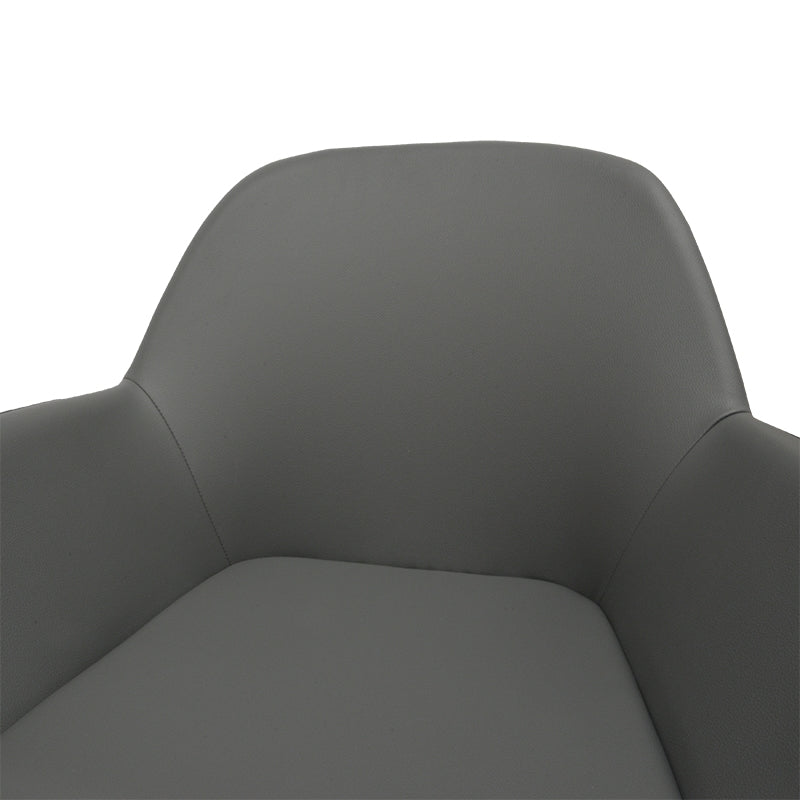 CDC962-SD Dining Chair in Charcoal Grey With Black Legs